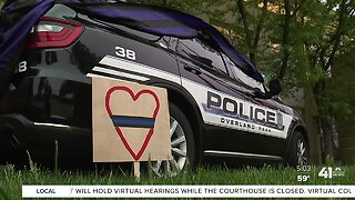 Police stand by fallen Officer Mosher