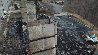 Drone video captures the damage of Rocky River condo fire