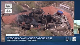 'Wedding cake house' catches fire in Carefree