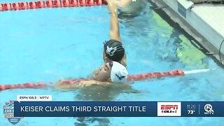 Keiser wins their third straight NAIA men's swimming national championship