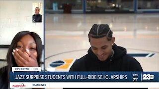 Utah Jazz surprise students with full-ride scholarships