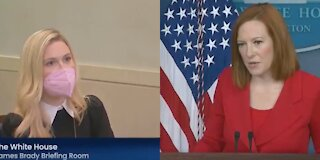 Reporter Corners Psaki About Biden Officials Wearing Mask After Vaccinated—She Has NO Response