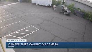 Camper thief caught on camera