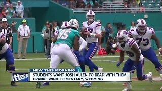 Students want Buffalo Bills QB Josh Allen to read with them