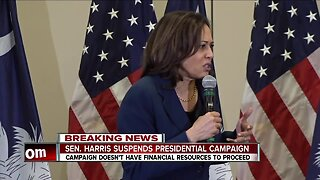 Senator Kamala Harris suspends presidential campaign