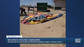 Six kids hurt in separate bounce house incidents