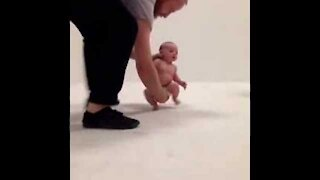 Newborn Baby Running