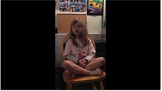 6-year-old girl preciously sings the Doxology