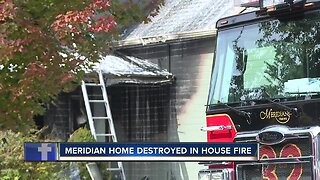 Home severely damaged in Meridian house fire