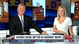 Study: women work better in warmer temperatures