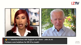 Cardi B interviewing Joe Biden