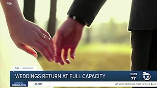 Wedding industry booming as CA reopens