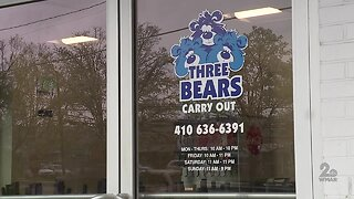 Three Bears Carryout in Baltimore remains open offering delivery, carryout