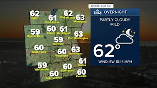 Comfortable evening ahead, hot Wednesday expected