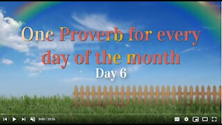 Proverbs Chapter 06