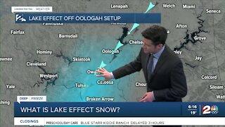 Lake Effect Snow Explainer
