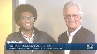 Hatred turned handshake