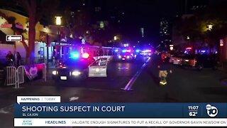 Gaslamp Quarter shooting suspect in court