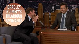 Bradley Cooper & Jimmy Fallon still can't stop laughing 3 years later
