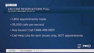 Vaccine reservation hotline for issues
