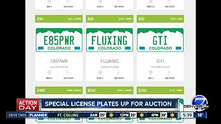 Special license plates up for auction