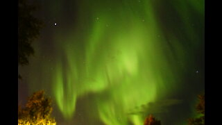 Beautiful Northern Lights (Aurora Borealis) Chasing Tour in September in Fairbanks, Alaska