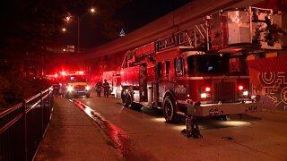 Residents evacuated after fire at Lakeview Towers in Cleveland