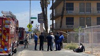 4 Las Vegas police officers injured during 2-alarm fire at Siegel Suites