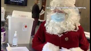 Santa got his COVID-19 vaccine today in Las Vegas