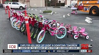 CHiPS for Kids drop off event downtown Saturday