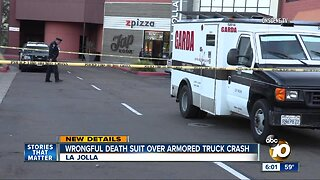 Wrongful death suit over armored truck crush