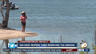 Miramar, Murray Reservoirs reopen Friday, Otay Reservoir reopens Saturday