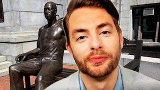 Huge George Floyd Statue Unveiled In Newark!