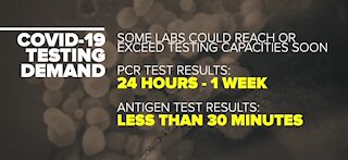 Companies that make COVID-19 testing struggling to meet demand
