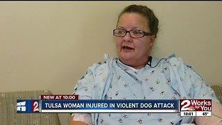 Tulsa woman injured in violent dog attack