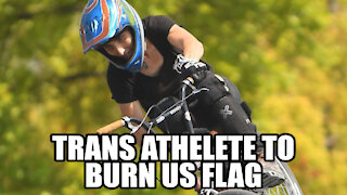 Trans Olympian Vowed To Burn Flag At Podium