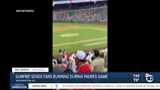 Gunfire sends ran running during Padres game