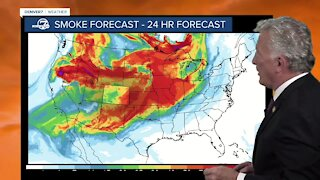 Mike Nelson's Tuesday afternoon wildfire smoke forecast
