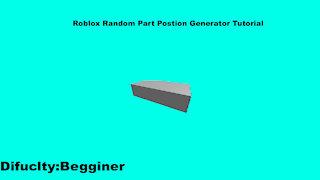 Roblox Studio Random Part Postion Generator Tutorial