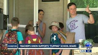"Teacher's union supports ""flipping"" school board"