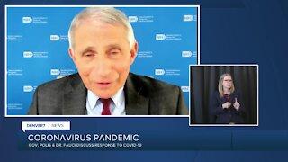 Colorado Gov. Polis, Dr. Anthony Fauci discuss COVID-19 response, vaccine
