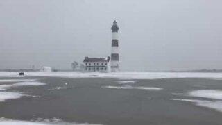 Snöstorm drabbar North Carolina