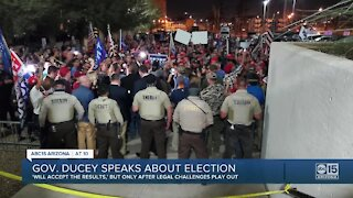 Governor Doug Ducey speaks about election