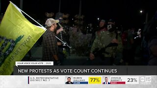 Protests in Maricopa County as vote counts continue