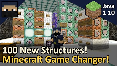 100 New Structures! Game Changer for Minecraft Java 1.10 and 1.11