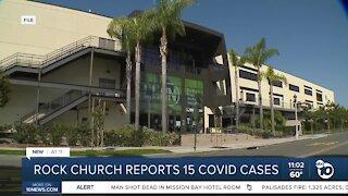Rock church reports 15 COVID cases