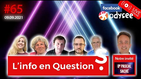 L'info en QuestionS #65 avec Pascal Sacré - 9.09.21