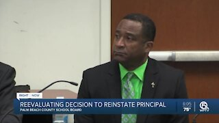 Palm Beach County School Board reevaluating to reinstate principal