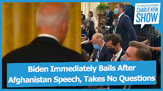 Biden Immediately Bails After Afghanistan Speech, Takes No Questions