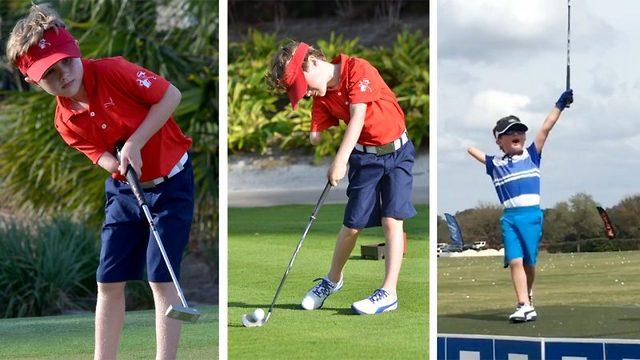 Tommy (6) har bare én arm - tar golfverden med storm